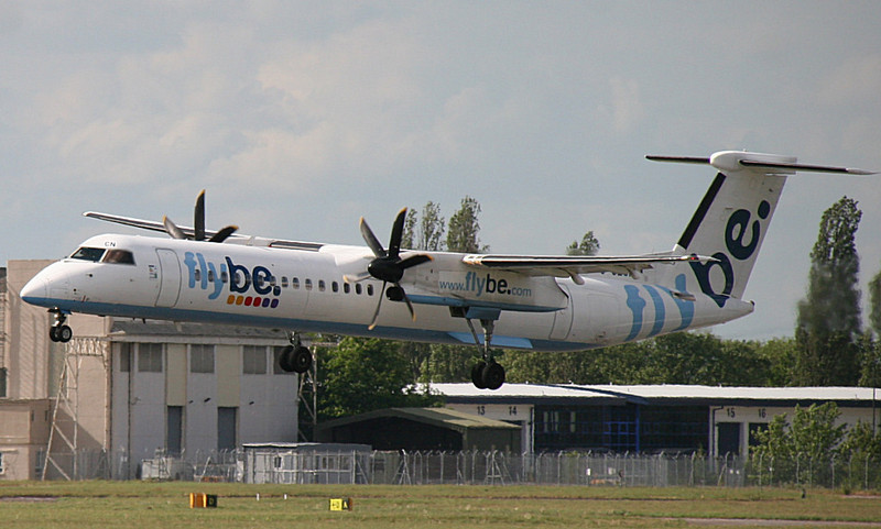 Flybe DHC-8-400 G-JECN<br /> By Correne Calow.