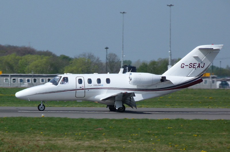 Cessna 525 CitationJet G-SEAJ.<br /> By Clive Featherstone.