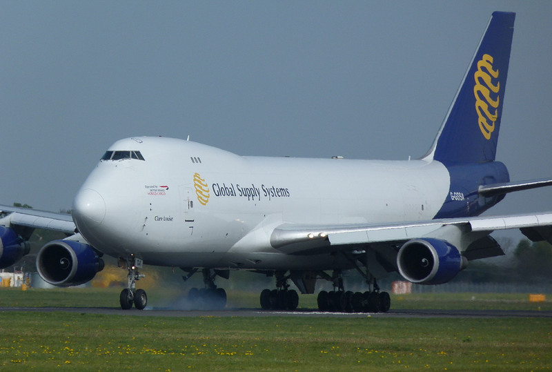 Global Supply 747-400 G-GSSA.<br /> By Clive Featherstone.