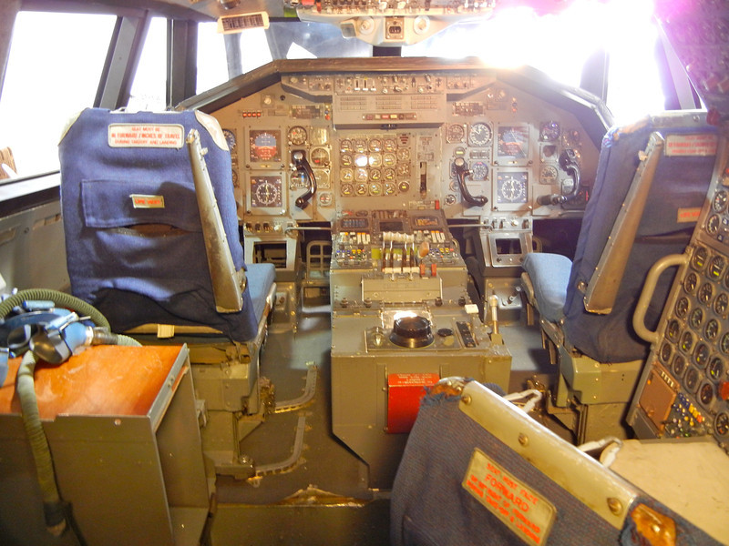 The cockpit of the Boeing SST Mockup