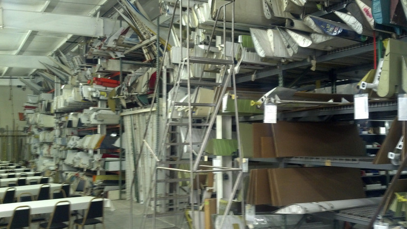 Just a small sample of the inventory at Williams Air Motive in Indiana.