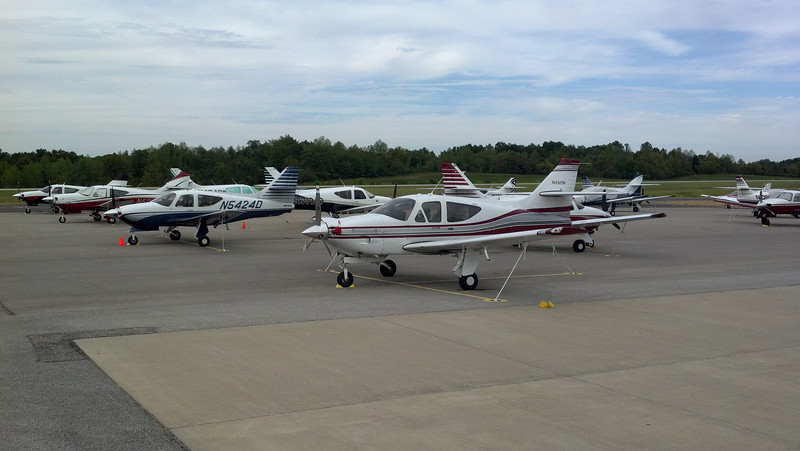 Some great looking Commanders on the Ramp at the 2012 French Lick Fly-in