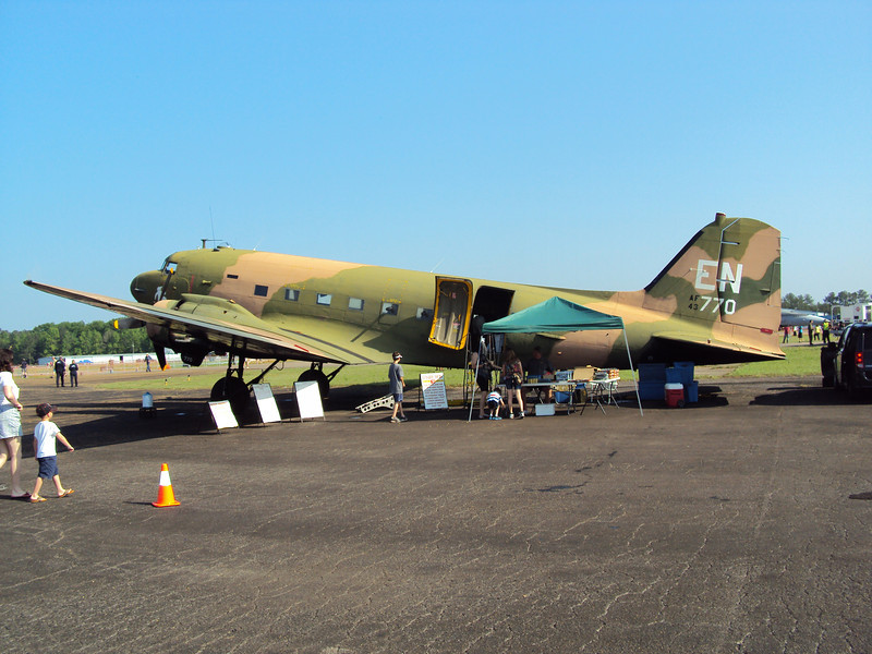 The C-47 Gunship.  This aircraft also carried our troop during the D-Day invasion.