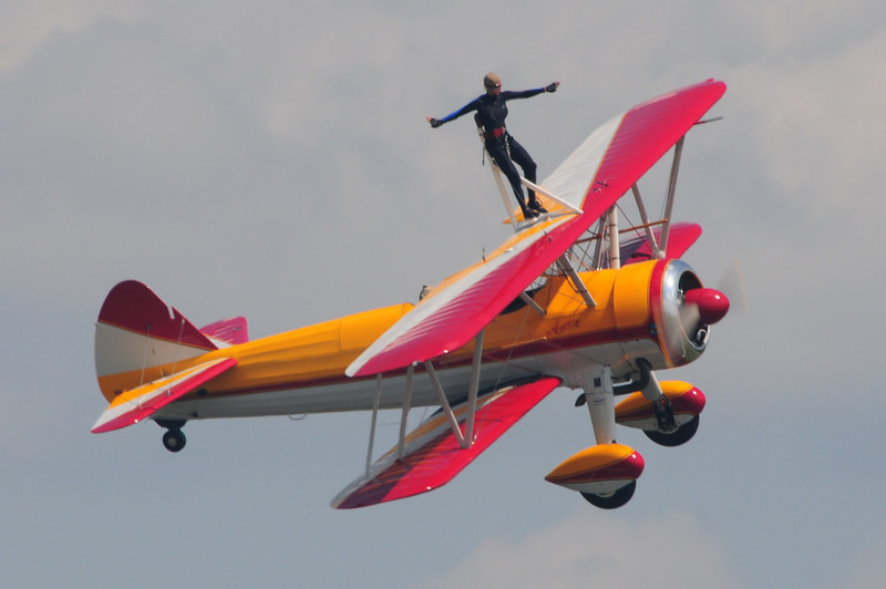 Ok let's do some wing walking just the old barn storming days.