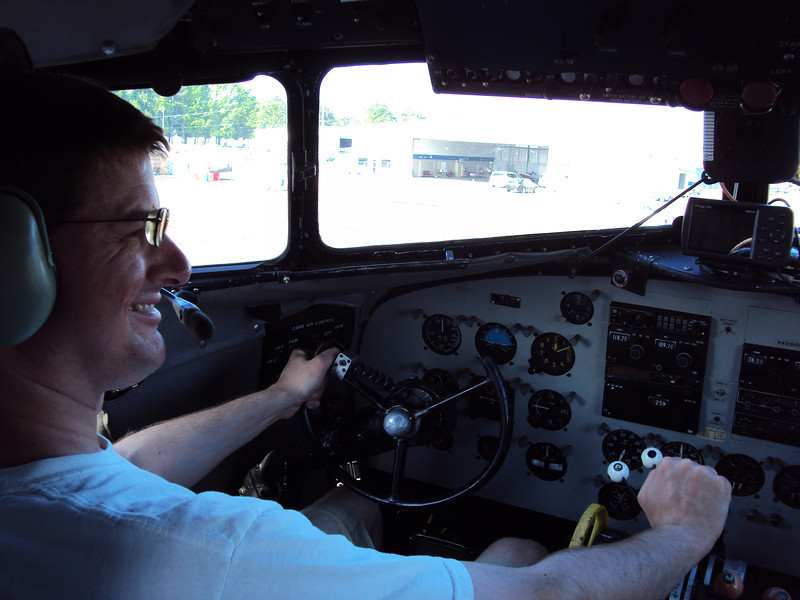 Paying tribute to my grandfather.  He wasn't a pilot but he was a tail gunner in the B-17 bomber in WWII.  I'm the cockpit of the C-47.