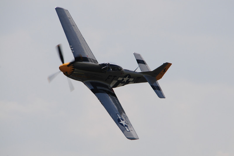 In the next set of photos feature the P-51 Mustang.  This is the aircraft that escorted our bombers into Germany to show Hitler who was boss!