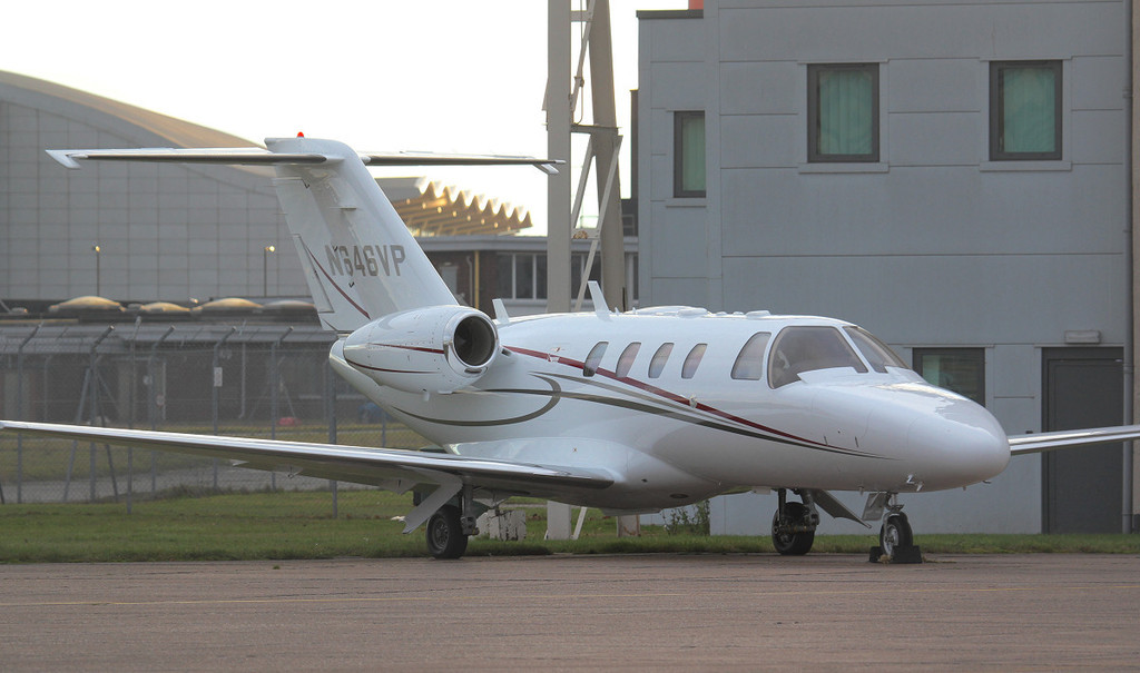 Cessna 525 CitationJet CJ1+ N646VP<br /> By Jim Calow.