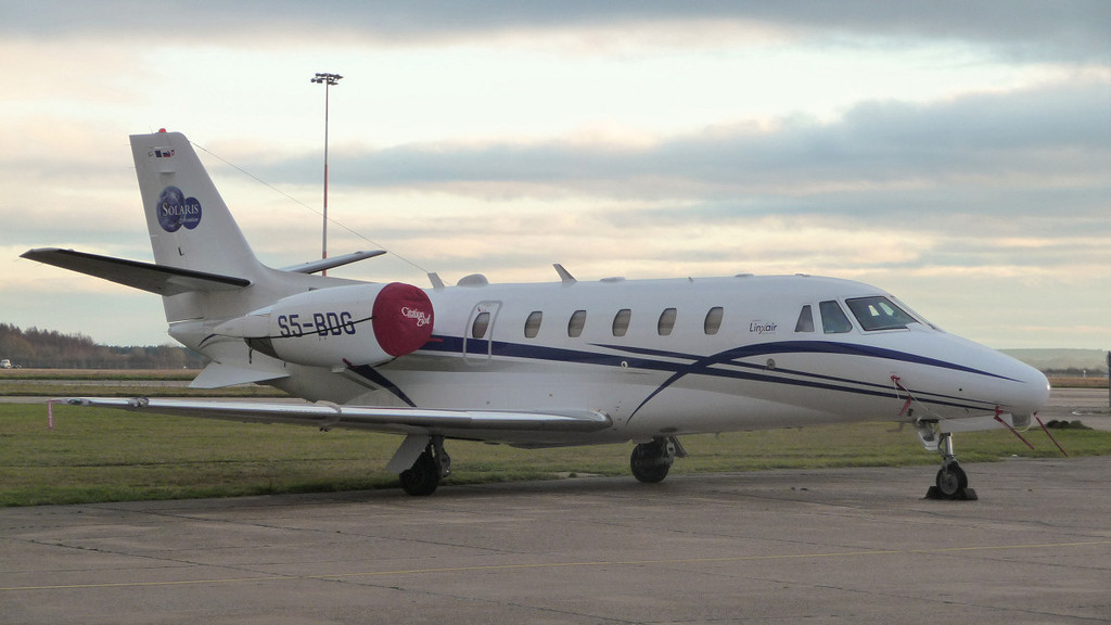 Linxair Cessna 560XL Citation Excel S5-BDG<br /> By Jim Calow.