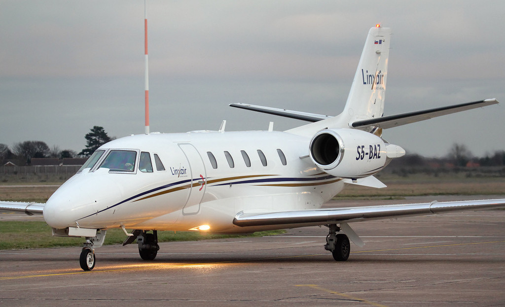 Linxair Cessna 560XL Citation Excel S5-BAZ<br /> By Jim Calow.