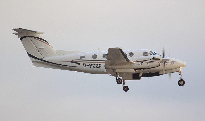 Beech B200 Super King Air G-PCOP<br /> By Jim Calow.
