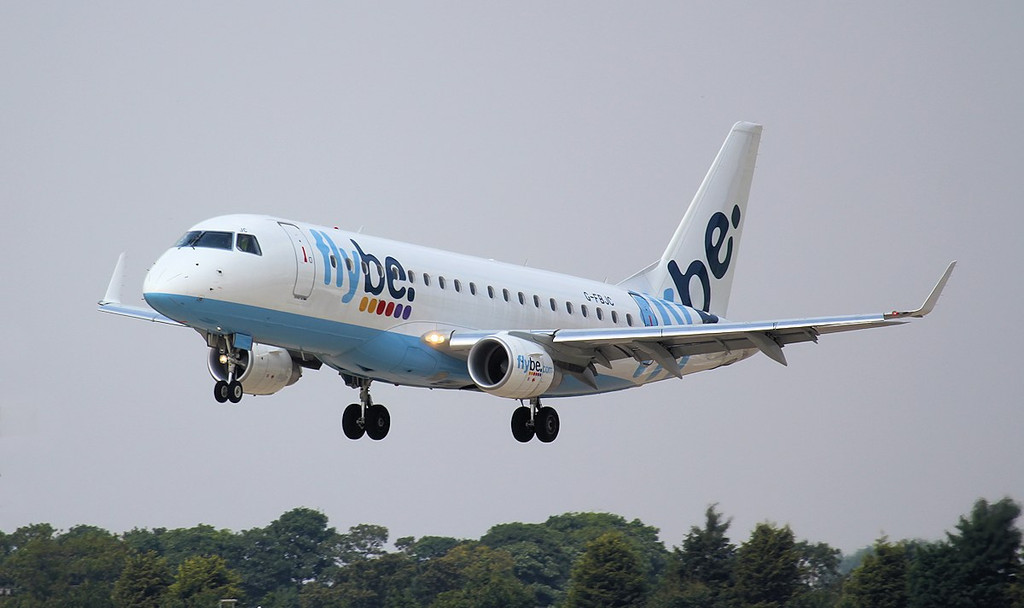 Flybe Embraer ERJ-175STD G-FBJC.<br /> By Jim Calow.