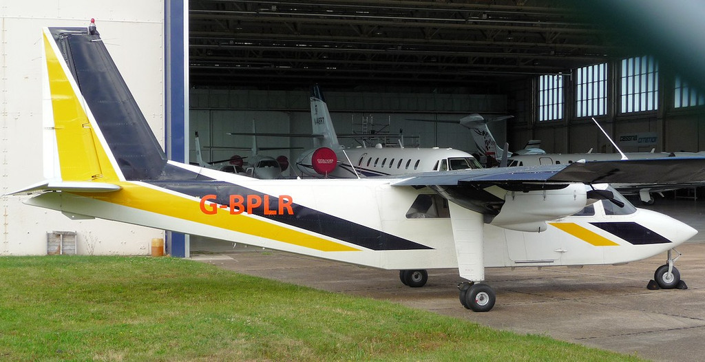 Hebridean Air Service Ltd Pilatus Britten Norman BN2B-20 Islander G-BPLR.<br /> By Jim Calow.