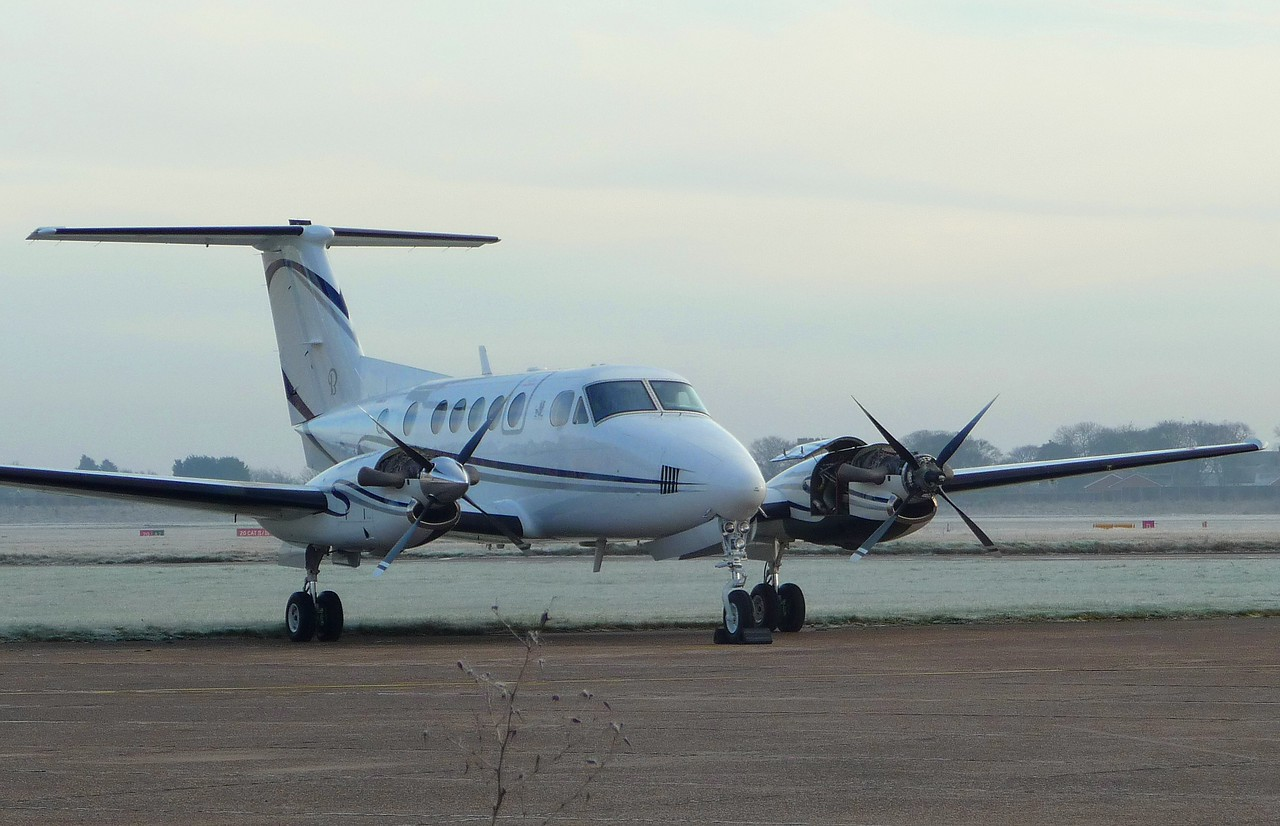 Beech King Air 200 F-GUFP <br /> By Correne Calow.
