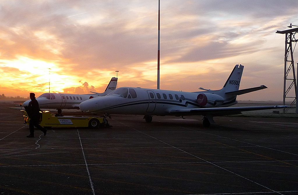 Cessna 550 Citation II N425ST and Cessna 550 Citation II N550LD<br /> By Correne Calow.