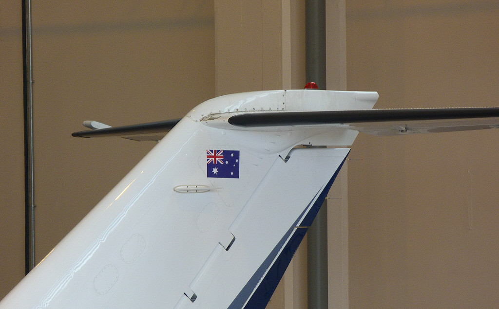 Cessna 525A Citation CJ2 C/N 525A-0236 now adorned with the Aussie flag.<br /> By Clive Featherstone.