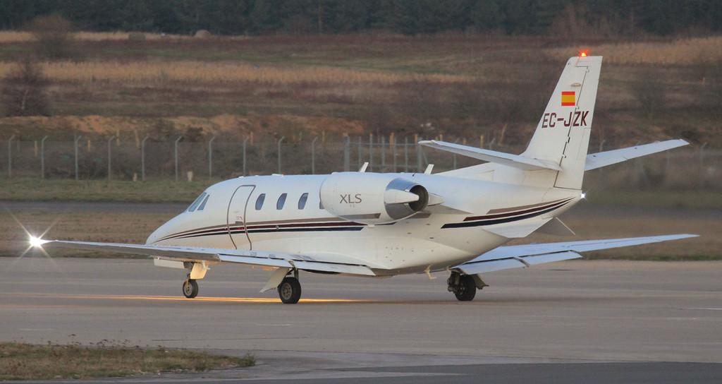 Corporate Jet Services Cessna 560XLS Citation Excel EC-JZK departing for Barcelona.<br /> By Jim Calow.