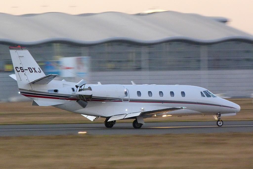Netjets Cessna 560XLS Citation Excel CS-DXJ.<br /> By Clive Featherstone.