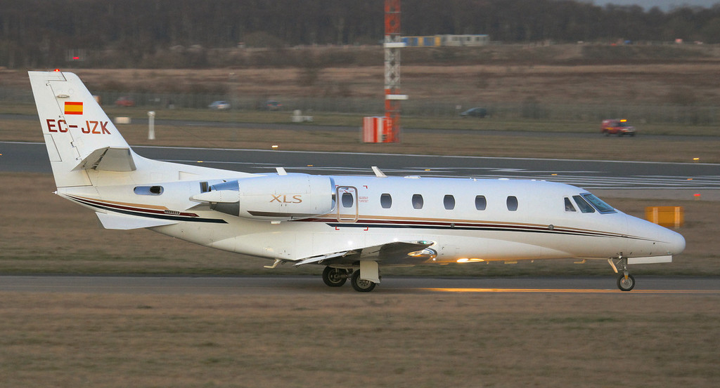 Corporate Jet Services Cessna 560XLS Citation Excel EC-JZK.<br /> By Jim Calow.