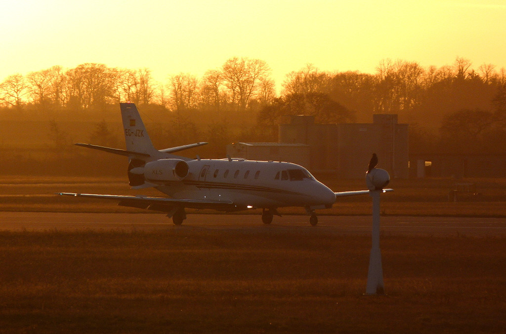 Corporate Jet Services Cessna 560XLS Citation Excel EC-JZK.<br /> By Clive Featherstone.