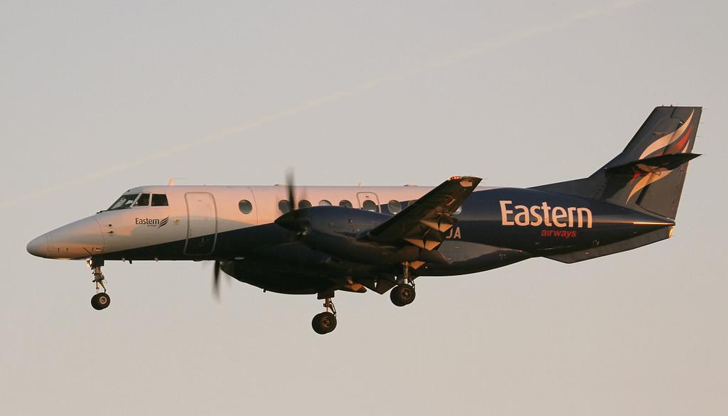 Eastern Airways BAe Jetstream 41 G-MAJA.<br /> By Jim Calow.