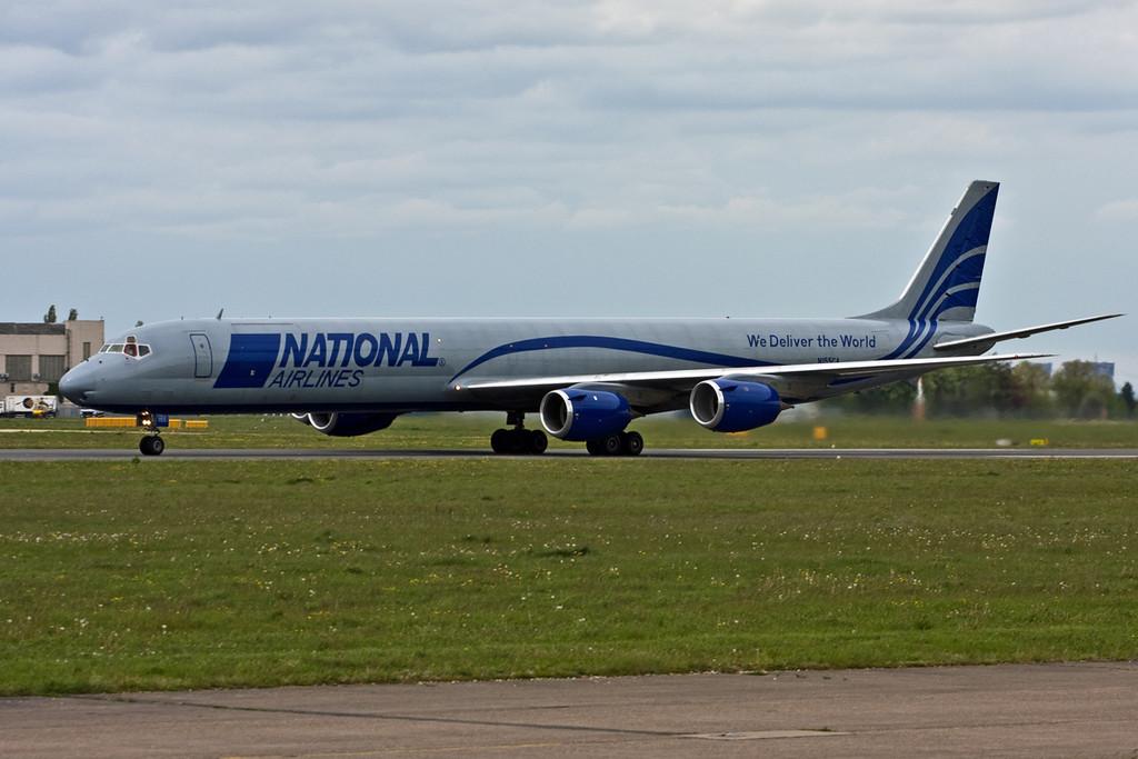 National Airlines Douglas DC-8-73CF N155CA.<br /> By David Bladen.