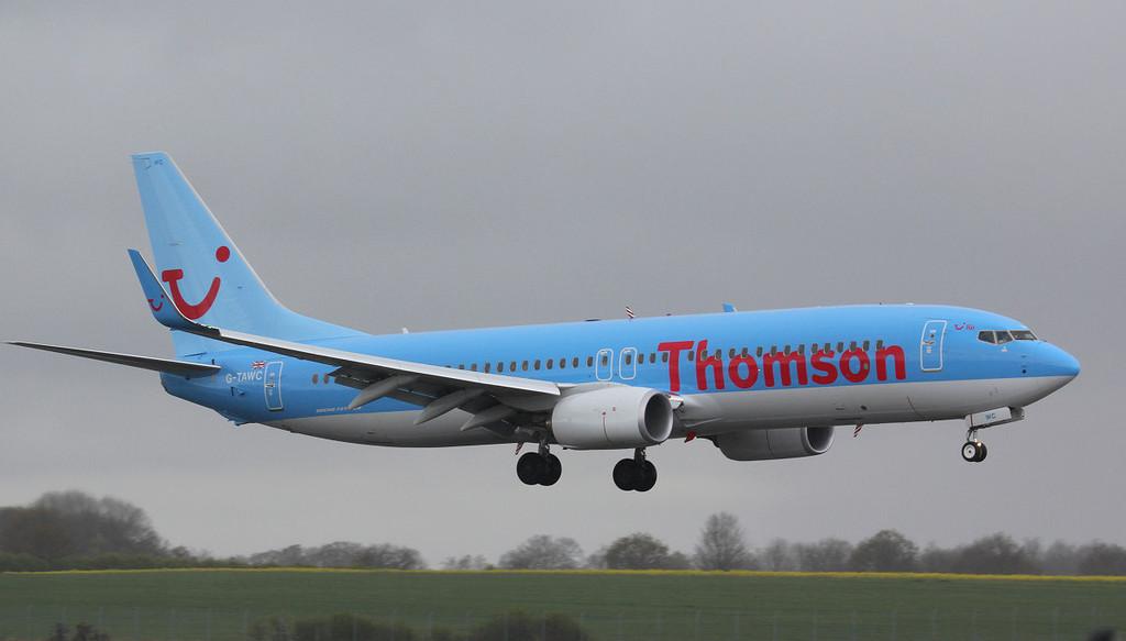 Thomson Airways 737-800 G-TAWC.<br /> By Jim Calow.