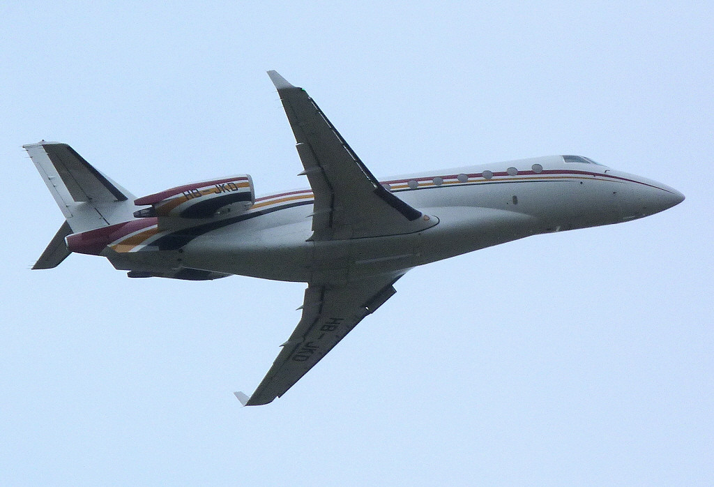 Nomad Aviation IAI Gulfstream G200 Galaxy HB-JKD.<br /> By Clive Featherstone.