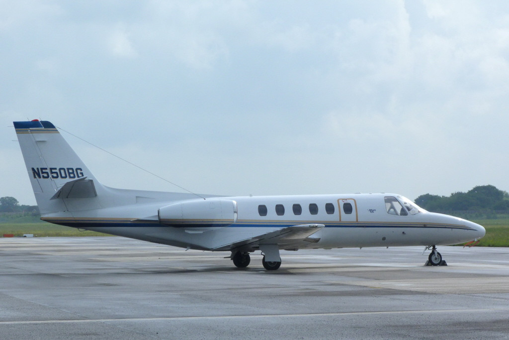 Cessna S550 Citation S/II N550BG, was a first time visitor.<br /> By Clive Featherstone.