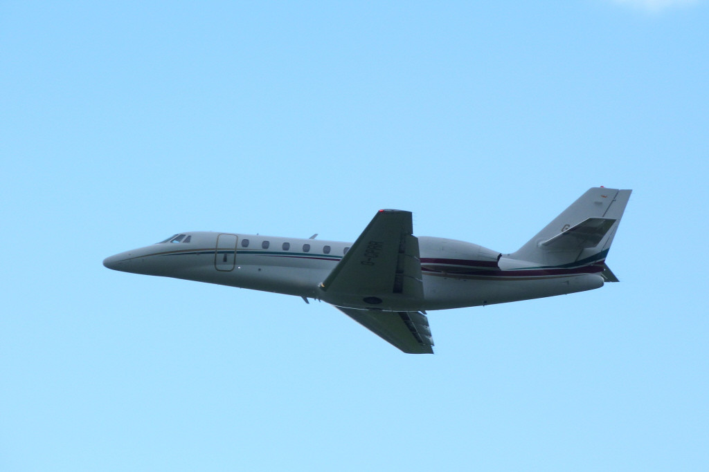 Cessna 680 Citation Sovereign G-CPRR.<br /> By Clive Featherstone.