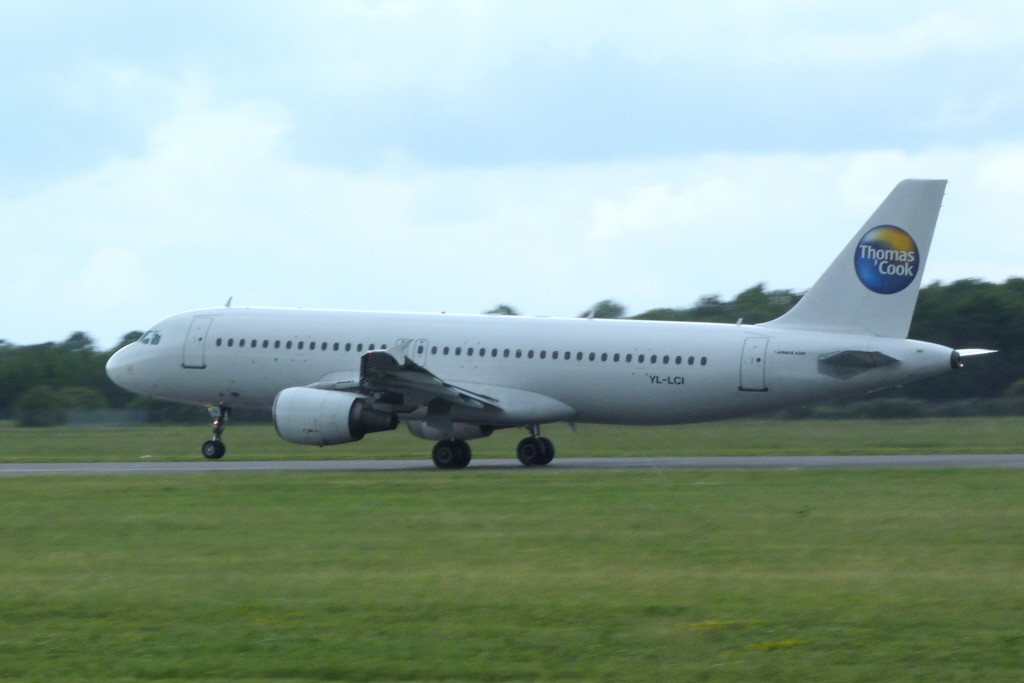 Thomas Cook (SmartLynx Airlines) A320 LY-LCI.<br /> By Clive Featherstone.