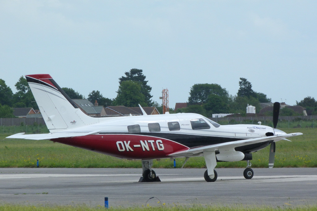 Piper PA-46-500TP Meridian OK-NTG.<br /> By Clive Featherstone.
