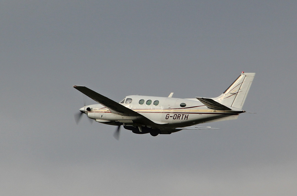 Beech E90 King Air G-ORTH.<br /> By Clive Featherstone.