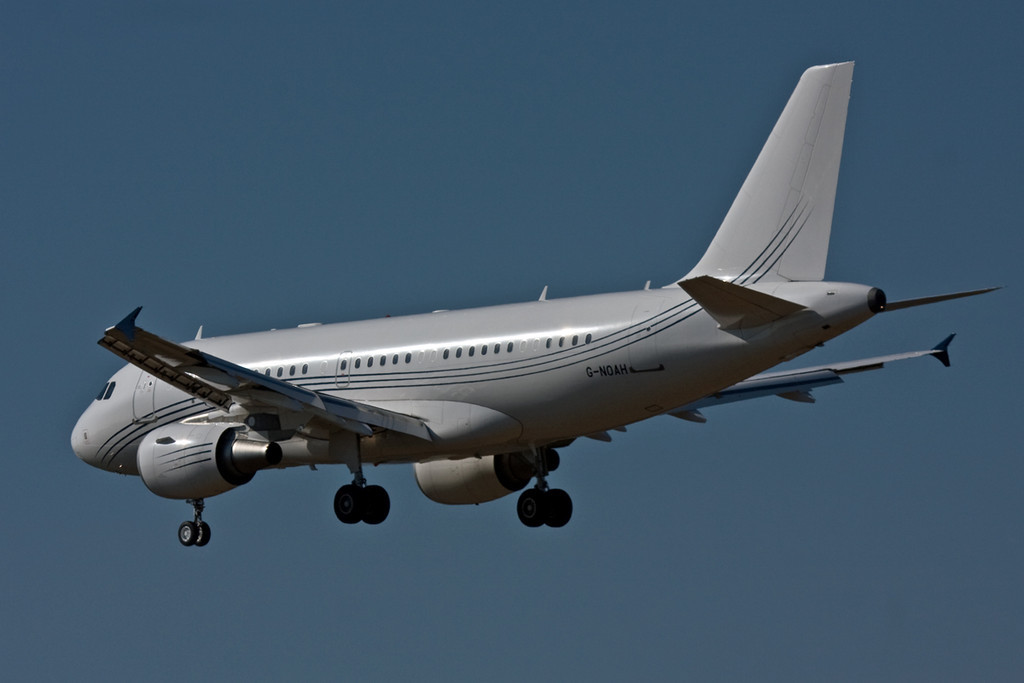 Acropolis Aviation A319-115X CJ  G-NOAH<br /> By David Bladen.