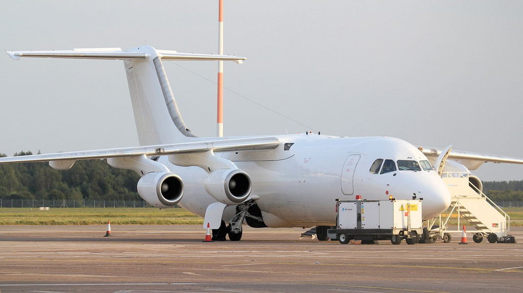TNT BAe 146-300QT Quiet Trader, OO-TAE awaits it's cargo.<br /> By Jim Calow.
