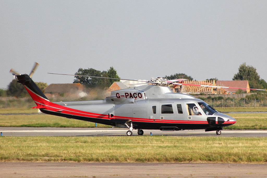 Cardinal Helicopter Services Sikorsky S-76C, G-PACO.<br /> By Clive Featherstone.