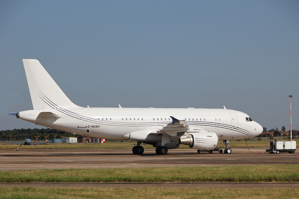 Acropolis Aviation A319-115X CJ  G-NOAH.<br /> By Clive Featherstone.