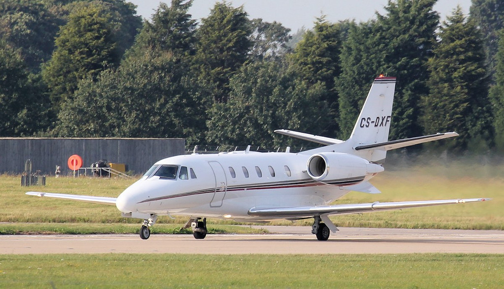 Netjets Cessna 560XL Citation Excel CS-DXF.<br /> By Jim Calow.