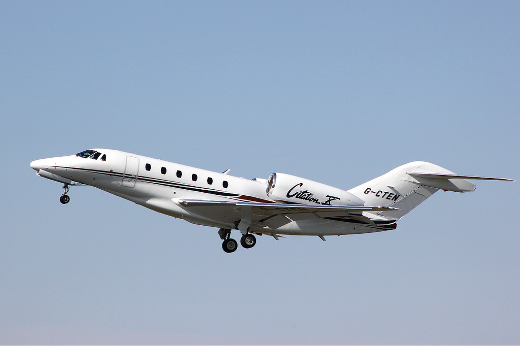 Cessna 750 Citation X, G-CTEN.<br /> By Clive Featherstone.