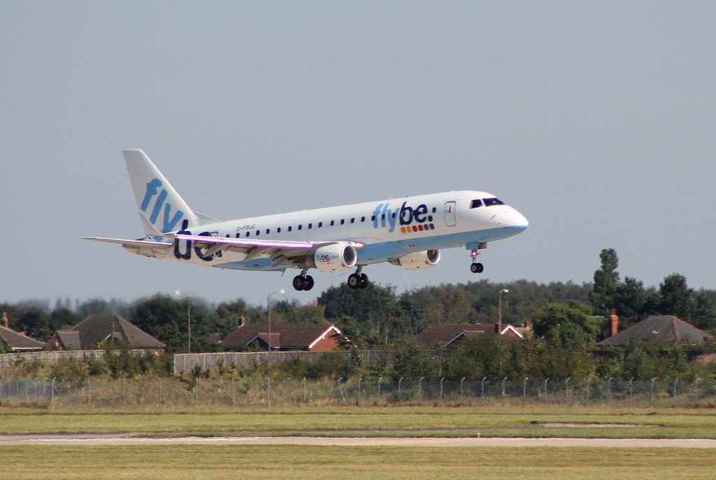 Flybe Embraer ERJ-175STD G-FBJC.<br /> By Clive Featherstone.