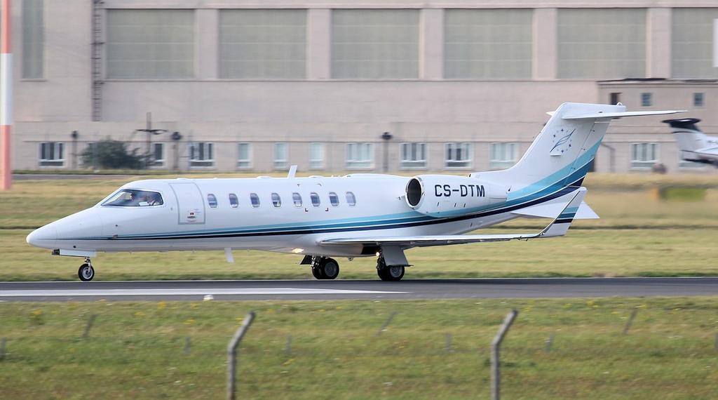 MasterJet Learjet 45XR, CS-DTM.<br /> By Jim Calow.