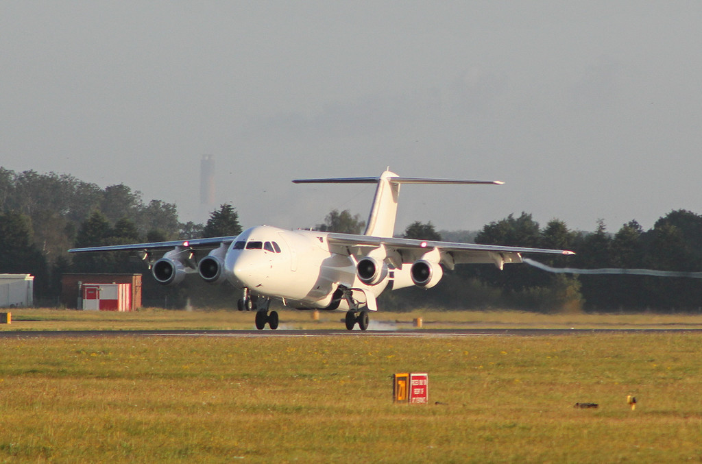 TNT BAe 146-300QT  OO-TAE<br /> By Clive Featherstone.
