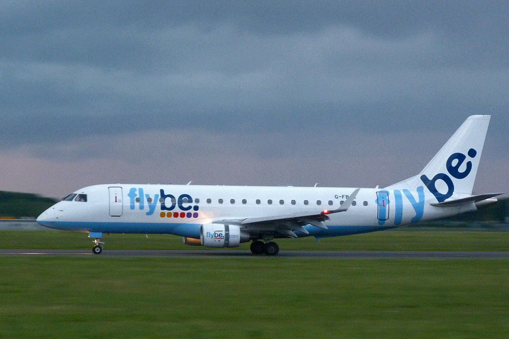 Flybe Embraer ERJ-170-200LR G-FBJA.<br /> By Clive Featherstone.