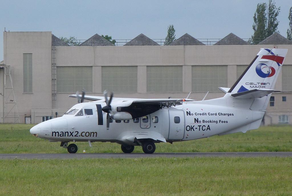 Manx2 Let L-410 UVP-E Turbolet, OK-TCA.<br /> By Clive Featherstone.