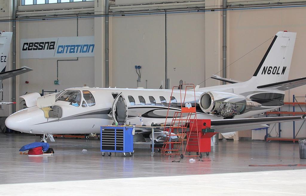 Cessna 550 Citation Bravo N60LW.<br /> By Jim Calow.