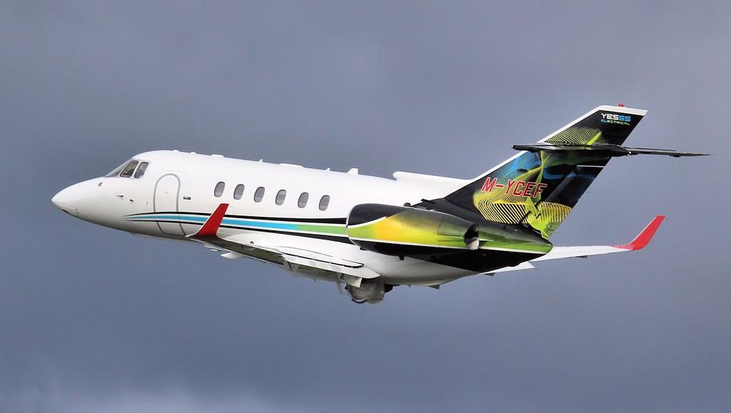 YESSS Electrical Raytheon Hawker 800XPi M-YCEF.<br /> By Jim Calow.