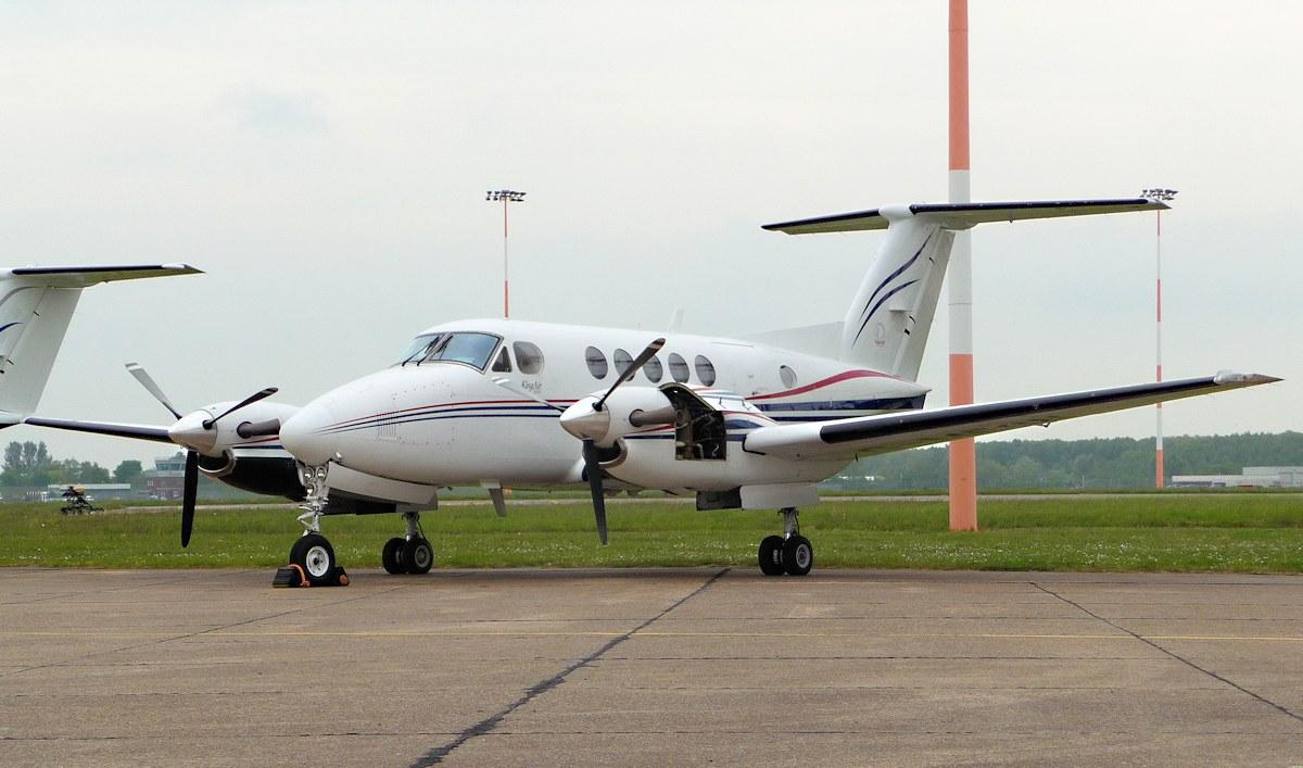 Beech B200 Super King Air G-MEGN.<br /> By Jim Calow.