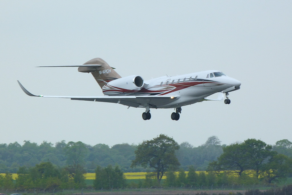 Cessna 750 Citation X M-ARCH C/N 750-0254 (ex N254CX)<br /> By Clive Featherstone.