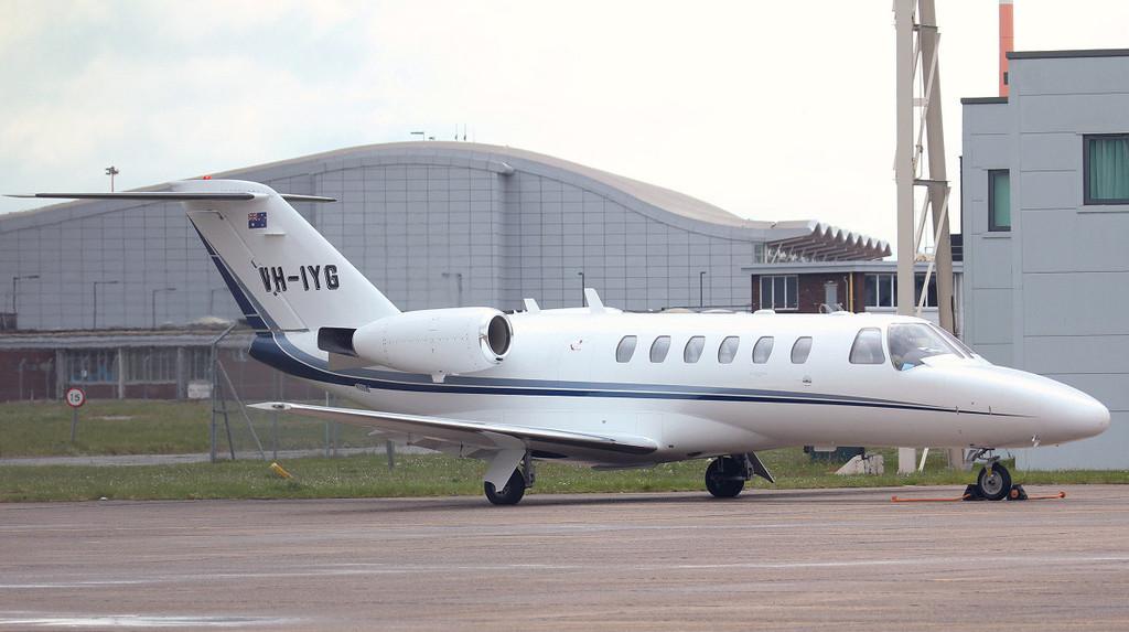 Cessna 525A Citation CJ2 VH-IYG (ex TC-VYN) engine runs.<br /> By Jim Calow.