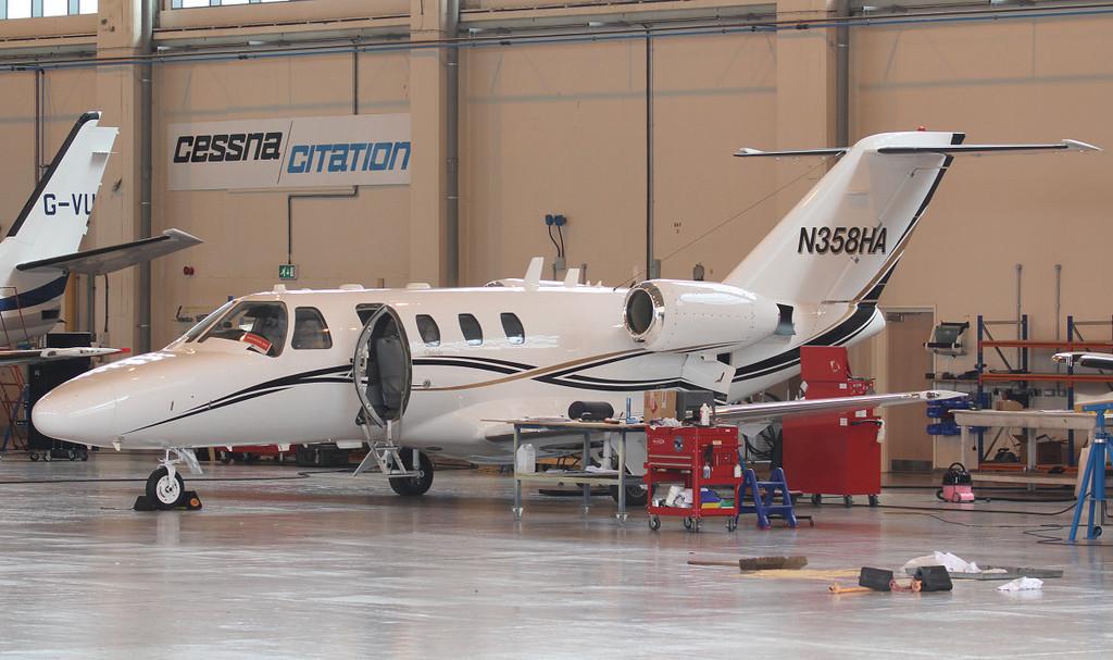 Cessna C525 Citation CJ1 N358HA (ex M-PARK)<br /> By Jim Calow.