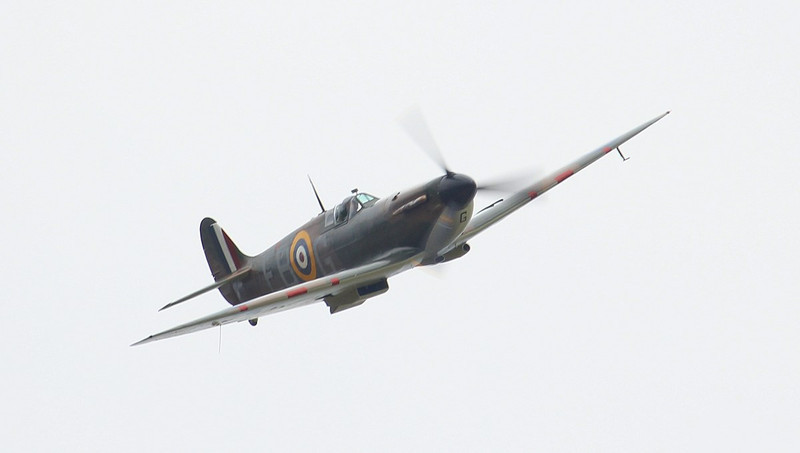 BBMF Spitfire Mk llA P7350 (EB-G) made a welcome flypast at DSA whilst returning from Church Fenton.<br /> By Jim Calow.